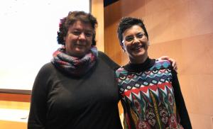 Edith Padrón, coordinadora de los Fisquitos y Beatriz Abdul-Jabar, ponente.