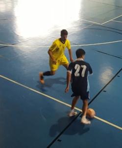 Acción de ataque del Geografía 2.0 en la final del campeonato universitario de Canarias.