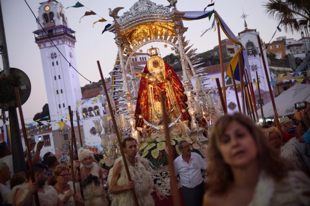 Ceremonia Guanche. Fotografía realizada por el Ayuntamiento de Candelaria