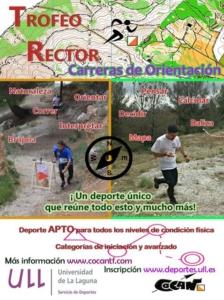 Cartel del Trofeo Rector de orientación deportiva. Fuente: Servicio de Deportes de la ULL.