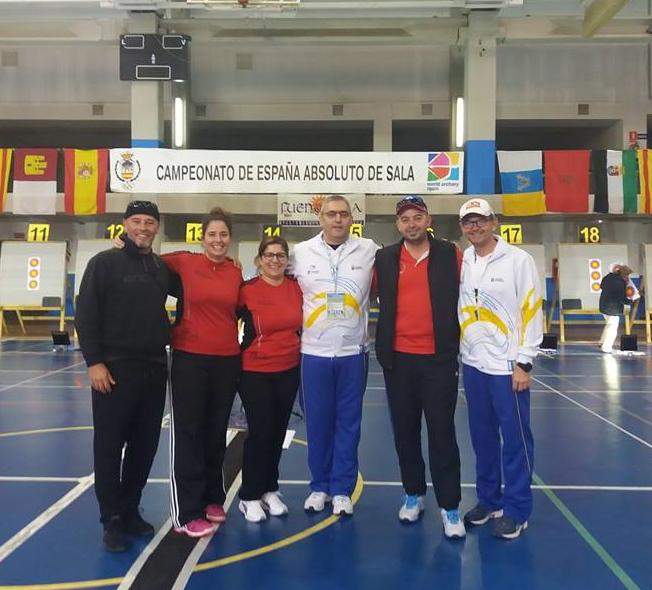 Participantes delClub Arco Tineret en el Campeonato de España en Sala Absoluto 2017.