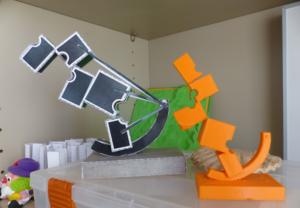 Algunas de las piezas elaboradas por los alumnos de Ingeniería.