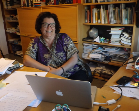 """Edith Padrón, profesora de la Sección de Matemáticas y organizadora del proyecto """"Un Fisquito de Matemáticas""""."""