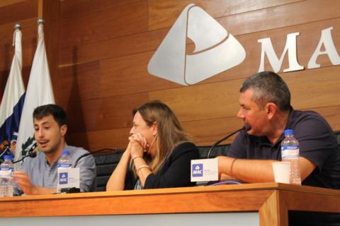 David Cuesta, Beatriz Rodríguez y Daniel Millet.