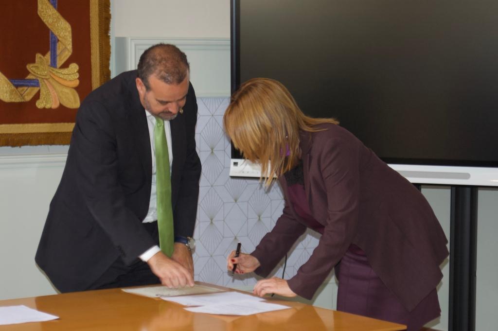 Sonia Mauricio en la investidura de su nuevo cargo.