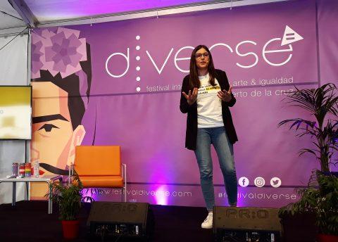 María Tomé durante la conferencia. Foto: Texeneri López.