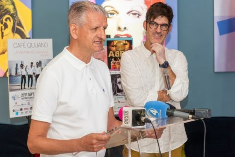 Francisco Linares y Mingo Rodríguez en la presentación oficial del festival. Foto: PULL