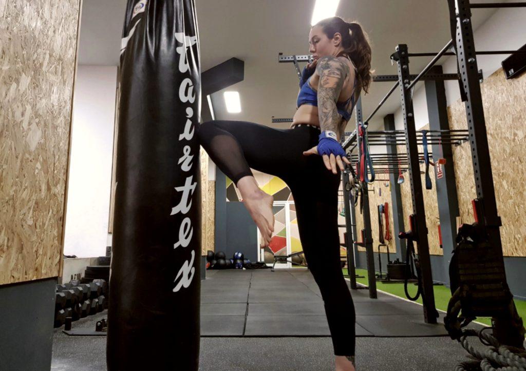 Patricia Rodríguez durante una sesión de entrenamiento. M. J. M