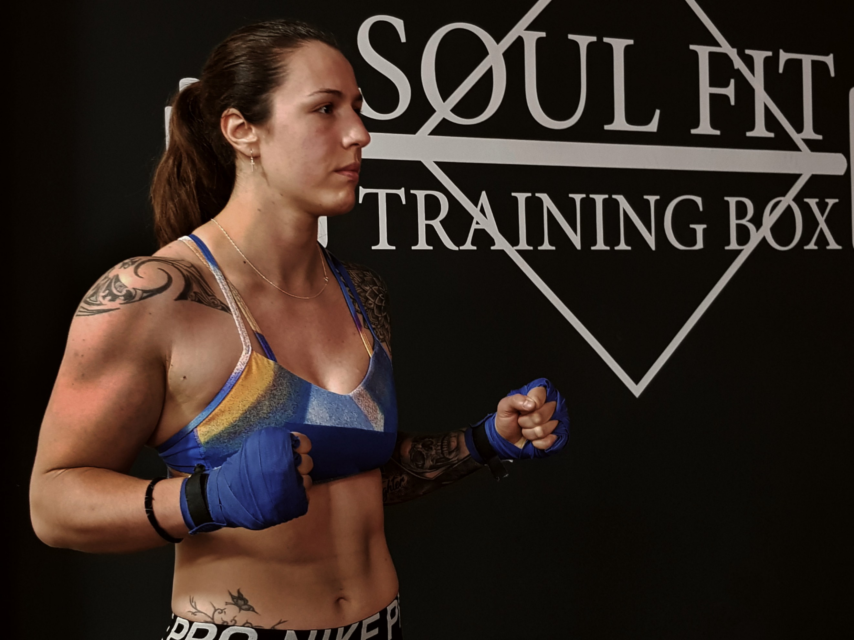 La 'kick-boxer' Patricia Rodríguez. Foto: M. J. M.