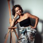 La pintora Sara Gutiérrez Melián