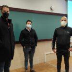 Juanra Álvarez, Francisco Batista y Jorge Pastor en el taller Psicología aplicada al deporte.
