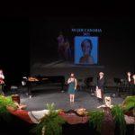 La soprano Candelaria González recibiendo la ovación del público. Foto: María Lemus.